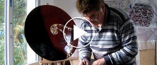Video Work at the Atelier, 2014 - Rémi Maillard, lacquer artist decorator