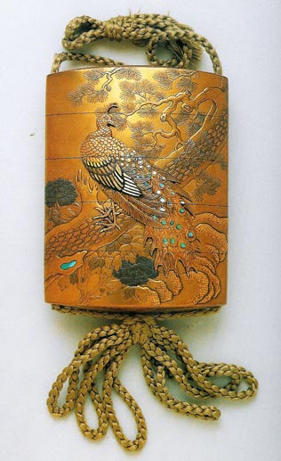 Lacquer Inro, traditional Japanese box that carries small items